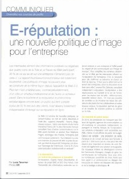 article I-tourisme : e-reputation