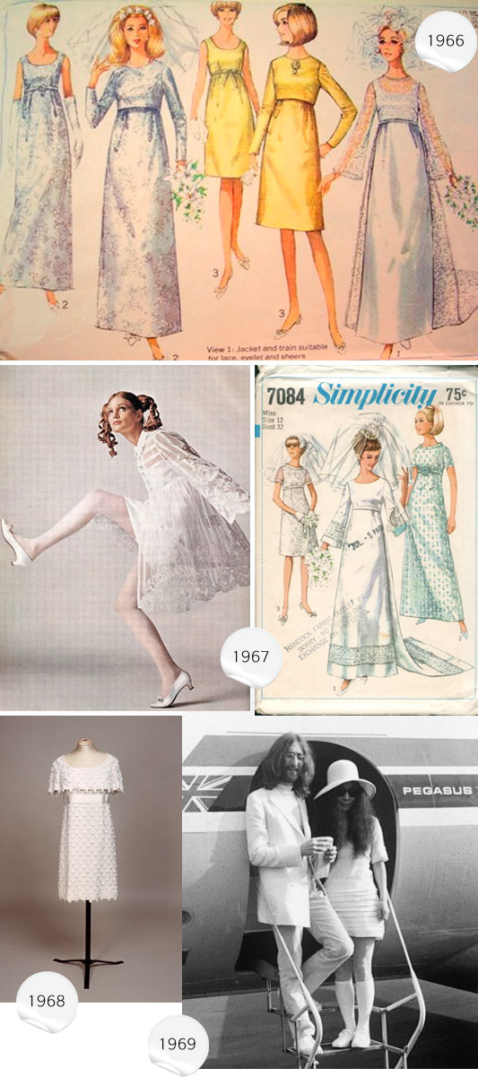1966-1969 wedding dresses