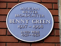 Photo of Benny Green blue plaque