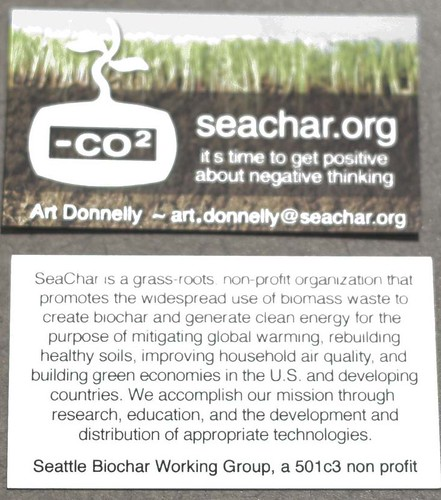 Art's organization, Sea Char, focuses on spreading the word on BioChar and providing stoves to families in third world countries