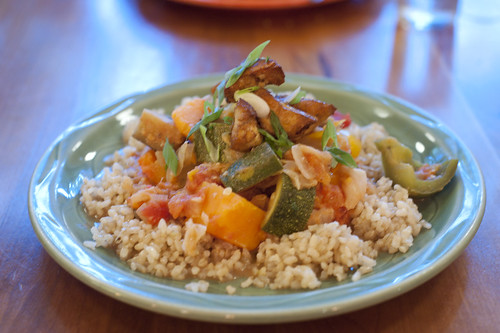 Vegetable Stew over Brown Rice-Moosewood Restaurant