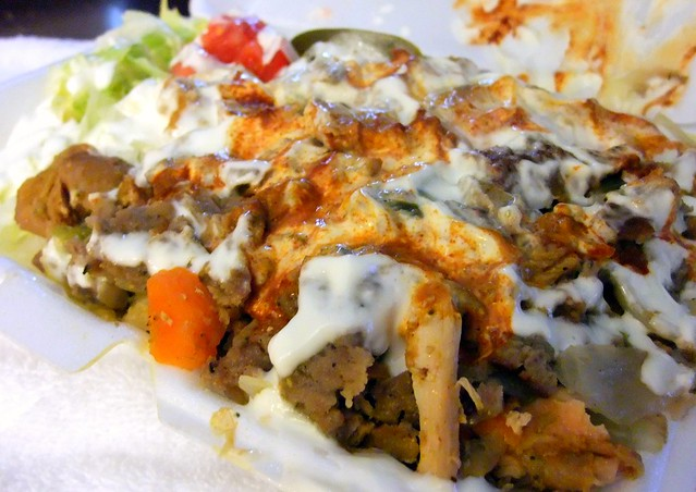 Chicken and Lamb Gyros on Rice