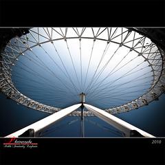 London Eye (_Hadock_) Tags: uk blue windows wallpaper sky london eye apple wheel azul architecture de mac nikon angle image screensaver 10 b