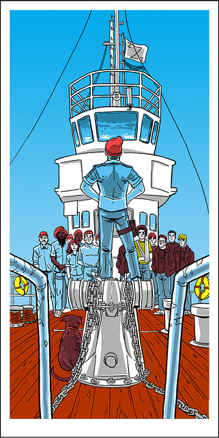 "The Life Aquatic with Steve Zissou-inspired ""Mutiny On The Belafonte"", by Tim Doyle"