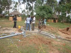 Alpha vocational training home,attachment of rising pipes during pump attachment
