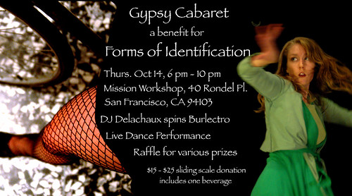 Gypsy Cabaret Party Oct. 14 @ Mission Workshop
