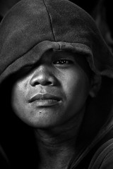 Smoky Mountain, Tondo - Portrait of a Scavenger Boy (Mio Cade) Tags: boy portrait mountain kid child philippines manila hood smoky scavenger tondo