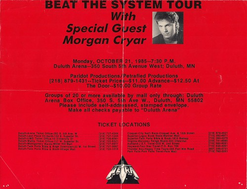 10/21/85 Petra/Morgan Cryer @ Duluth, MN (Poster - Bottom)