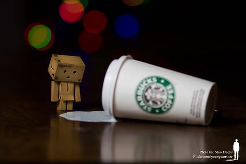 Danbo Spilt Starbucks