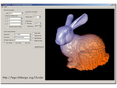 Announcing LSculpt! (bldesign) Tags: sculpture brick screenshot lego software cad ldraw lsculpt stanfordbunny