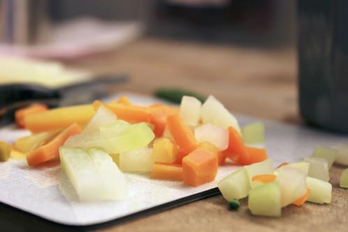 Gemüse Schnittresten