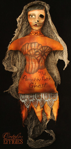 Pumpkin Patch Ghost Doll