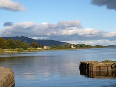 Loch Leven Panorama (B4bees) Tags: park camera blue panorama green history tourism nature water ferry boats scotland pier photo fishing sailing harbour calm bistro queenmary photograph shore motor quays historicscotland kinross lochleven kirkgate lochlevencastle lochlake