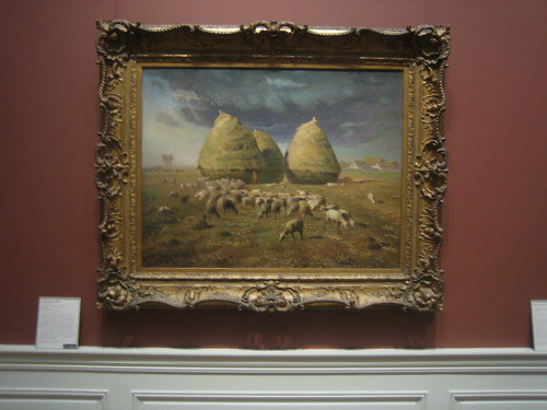 Haystacks: Autumn, c. 1874,  Jean-François Millet _8414