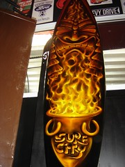 SURF CITY TIKI FLAME by FENO (CLOSE UP) (FENO Artworks.) Tags: ocean city sea art hawaii mar big king surf arte pacific flames culture wave surfing harleydavidson hotrod op custom tiki kandy airbrush feno quiksilver kustom kulture aerografia mormaii sweel
