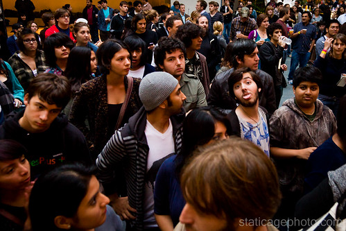 The crowd at Happy Hollows concert © 2010 Michael Kang
