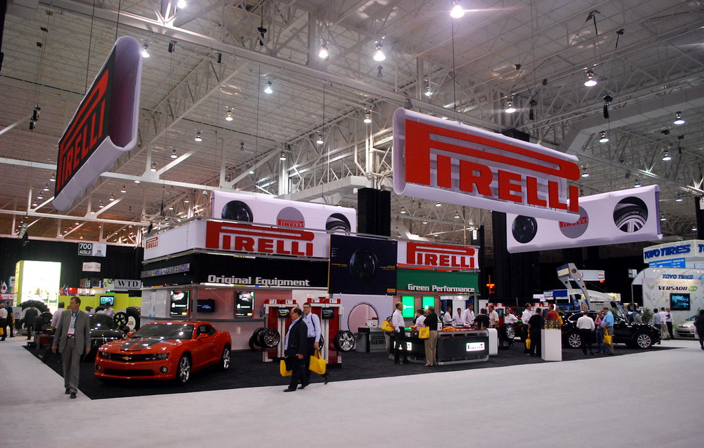 The Pirelli booth at ITEC 2010 in Cleveland, Ohio