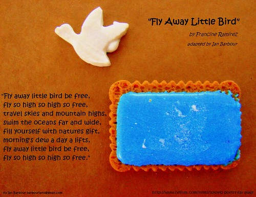 "Zoo Biscuit Poetry ""Fly Away Little Bird"" by barbourians"