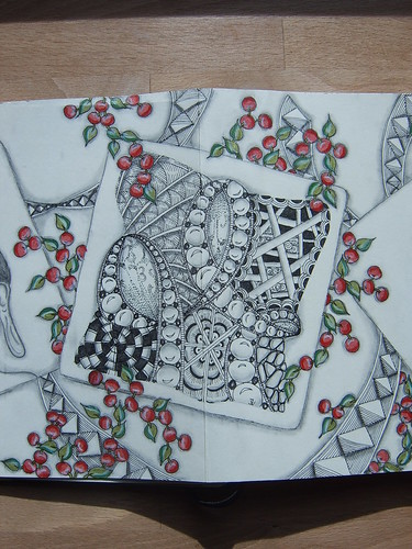 Zentangle Moly Exchange by PaperArtStudio