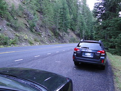 Shriner Peak roadside parking.