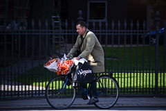 Flower Delivery (Mikael Colville-Andersen) Tags: flowers bike bicycle copenhagen bouquet cyclechic