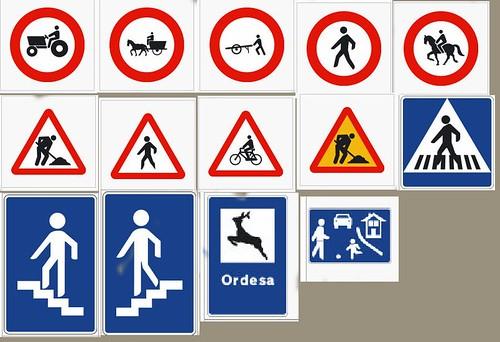 Dibujos de señales de transito para niños - Imagui