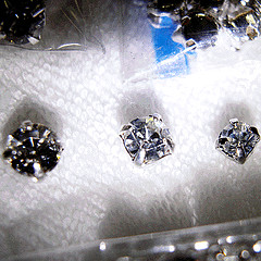 Diamond stud beads - 3 sizes