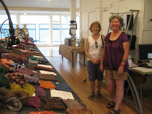 Artfibers, San Francisco, Roxanne (right), and customer
