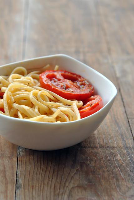 Pasta con Pomodorini Confit al Forno