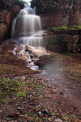 Go With The Flow (Megan Lorenz) Tags: longexposure nature water creek landscape outdoors waterfall scenery montana stream scenic falls flowing glaciernationalpark gnp the4elements mlorenz meganlorenz mlorenzphotographyrogerscom