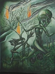 The Torment of Queen Lolo (Grant Cunningham) Tags: dark painting intense colorful montreal vibrant grant fineart gothic goth fantasy horror cunningham bizarre alternative oilpainting lowbrow apocalyptic gothart darkart finearts lowbrowart alternativeart gothicart montrealais montrealer bizarreart montrealartist grantcunningham grantmontreal