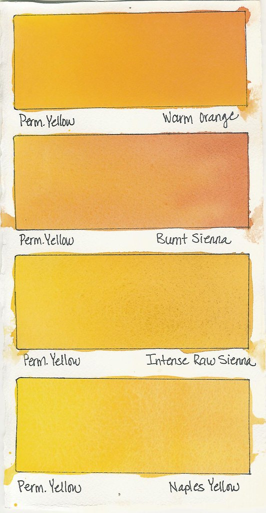 how to create watercolor swatch