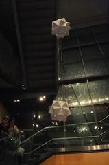 hanging origami spheres