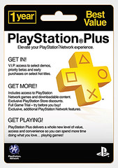 PlayStation Plus retail card: 1 year