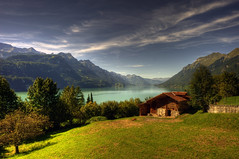 Brienz Rothorn Bahn (Or Hiltch) Tags: pictures autumn wallpaper sky lake snow mountains alps green art nature water beautiful field clouds landscape schweiz switzerland landscapes high nikon europe heaven paradise village view image c valley backgrounds getty pastoral pathway nationalgeographic rothorn brienzrothornbahn brienzer mostbeautifulplacesoftheworld badmanproduction