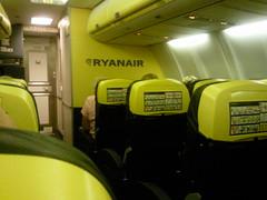 onboard Ryanair