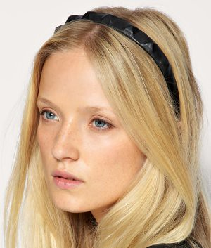 asos leather stud headband small