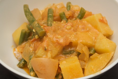 bean + potato curry