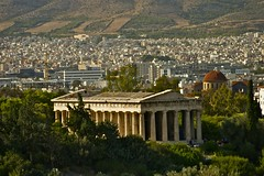 Temple of Hephaestus ........ ATHENS (ONETERRY. AKA TERRY KEARNEY) Tags: old classic geotagged greek temple ruins columns athens historic greece zeus majestic griechenland grce athene athen olympian griekenland athnes rememberthatmomentlevel1 geo:lat=379706814 geo:lon=23729413900000054