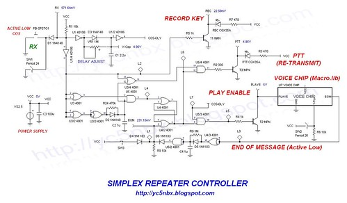 SIMPLEX REPEATER SCHEMATIC