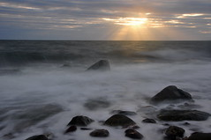 north shore long exposure (paulmurdock73) Tags: longexposure sea sky sun rocks waves whitehaven