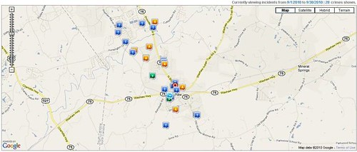 Waxhaw Crime Report - September 2010