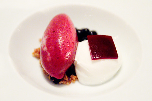 Veg Dessert 1: Huckleberry and Buttermilk Sherbet