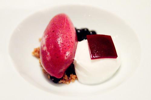Veg Dessert 1: Huckleberry and Buttermilk Sherbet