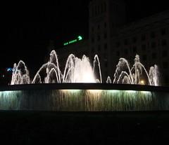 Plaça de Catalunya by night