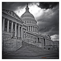 The Capitol [P1030295] (digital_don) Tags: bw architecture lumix washingtondc districtofcolumbia cloudy steps panasonic capitol congress dome dcist eastside capitolhill gf1 niksilverefex p1030295