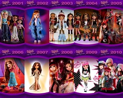 Bratz through the years!! (Fashion_Luva) Tags: 2001 fashion dolls anniversary jade sasha 10th yasmin bratz 2010 cloe mgae