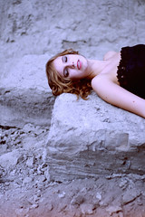 tranquility (scientifiques) Tags: girl rock hair happy dress redlips