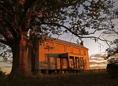 Fading Light (History Rambler) Tags: old sunset house abandoned home architecture rural tin oak south gothic northcarolina historic southern plantation vacant mansion antebellum federal decayed tinroof halifaxcounty aftonvilla davidbarrow oncewashome