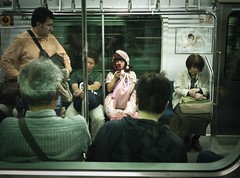 Film is not dead, but I don't have time to develop film. (modern_classic) Tags: japan subway tokyo blog vladimirnabokov adobelightroom tokyoga  lolitafashion lumixgf1 lumixg20mmf17